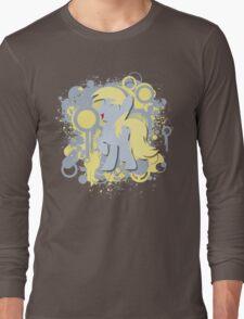 Derpy Splatter Silhouette  Long Sleeve T-Shirt
