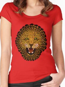 Leopard - Sketch - Color Women's Fitted Scoop T-Shirt