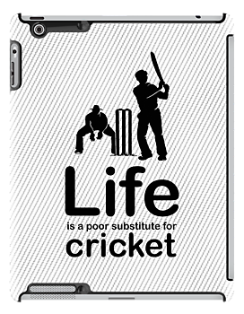 Cricket v Life - Black Graphic by Ron Marton