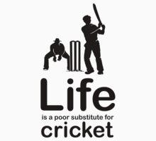 Cricket v Life - White Baby Tee