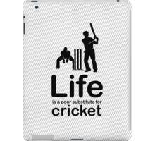 Cricket v Life - White iPad Case/Skin