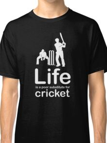 Cricket v Life - Black Classic T-Shirt