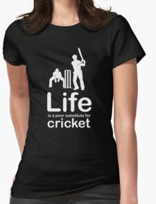 Cricket v Life - Carbon Fibre Finish Womens Fitted T-Shirt