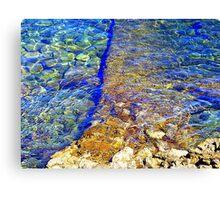 The Water Around Cap Ferrat Canvas Print