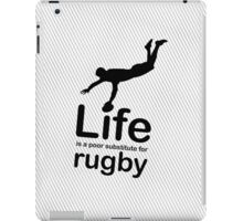 Rugby v Life - White iPad Case/Skin