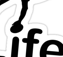 Rugby v Life - Marble Sticker