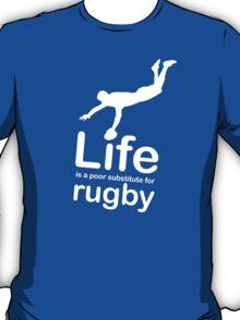 Rugby v Life - Black T-Shirt