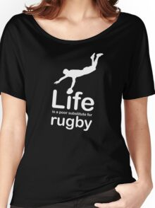 Rugby v Life - Carbon Fibre Finish Women's Relaxed Fit T-Shirt