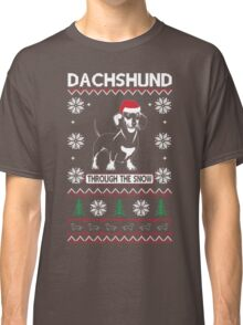 DACHSHUND THROUGH THE SNOW 2 Classic T-Shirt