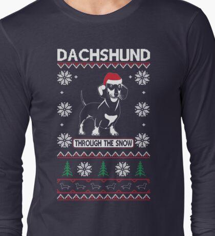 DACHSHUND THROUGH THE SNOW 2 Long Sleeve T-Shirt