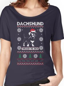 DACHSHUND THROUGH THE SNOW 2 Women's Relaxed Fit T-Shirt