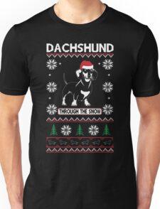 DACHSHUND THROUGH THE SNOW 2 Unisex T-Shirt