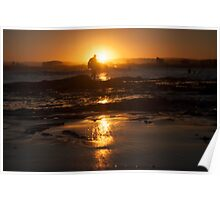Sunset and Silhouettes Poster