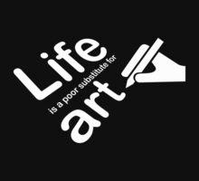 Art v Life - Red Baby Tee