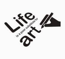 Art v Life - Yellow Kids Tee