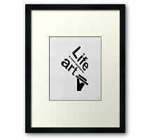 Art v Life - Yellow Framed Print