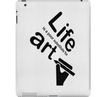 Art v Life - Blue iPad Case/Skin