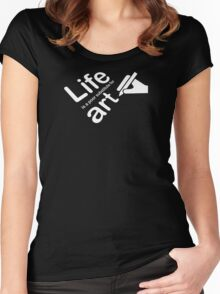 Art v Life - Galaxy Women's Fitted Scoop T-Shirt