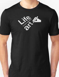 Art v Life - Carbon Fibre Finish Unisex T-Shirt
