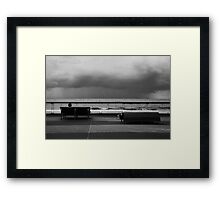 It's Lonely At The Beach Framed Print