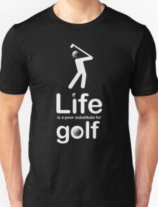 Golf v Life - White Graphic Unisex T-Shirt