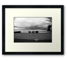 Lifesavers And Storm Clouds Framed Print