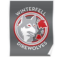 Winterfell Direwolves (Retro Variant) Poster