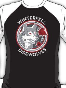 Winterfell Direwolves (Retro Distressed Variant) T-Shirt