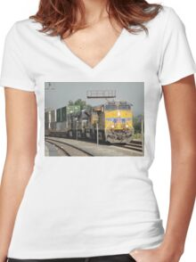 Union Pacific at El Monte Women's Fitted V-Neck T-Shirt