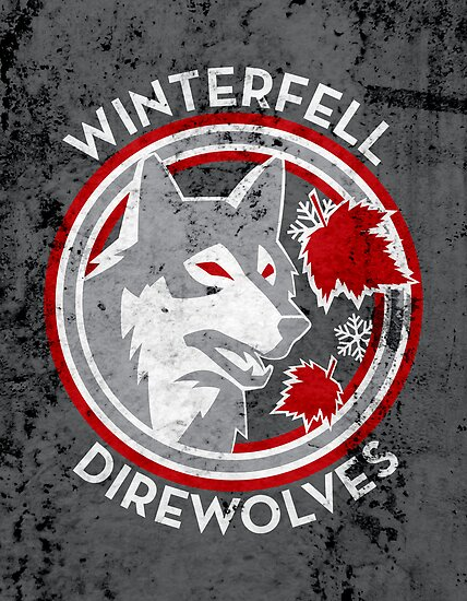 Winterfell Direwolves (Retro Distressed Variant) by huckblade