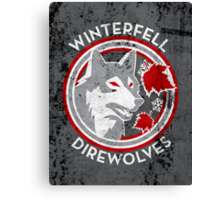 Winterfell Direwolves (Retro Distressed Variant) Canvas Print