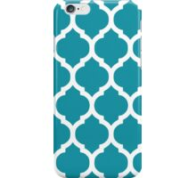 Blue and White Moroccan Lattice Pattern iPhone Case/Skin