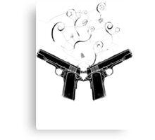 double gun Canvas Print