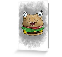 Freaky food item: Burger Greeting Card