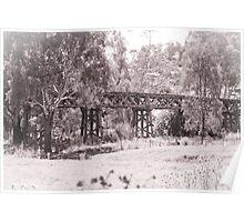 Gundagai Rail Bridge Poster