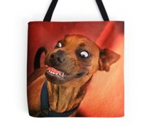 Dogs with game face on .15 Tote Bag
