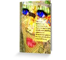 Assemblage Greeting Card