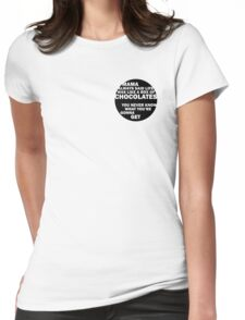 Forrest Gump - Mama Always Said... Womens Fitted T-Shirt