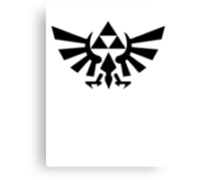 Zelda - Triforce (Black) Canvas Print