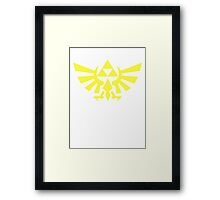 Zelda - Triforce (Yellow) Framed Print