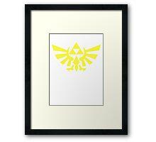 Zelda - Triforce (Yellow) Framed Print