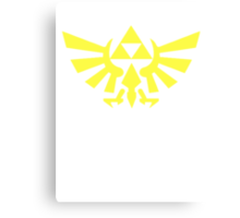 Zelda - Triforce (Yellow) Canvas Print