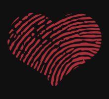 Red Heart Fingerprint Kids Tee