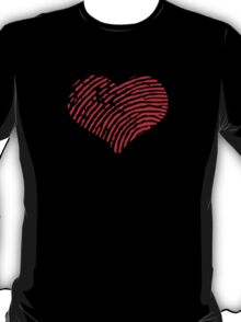 Red Heart Fingerprint T-Shirt