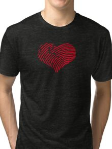 Red Heart Fingerprint Tri-blend T-Shirt