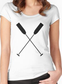 Paddles Crossed / Dragonboat Women's Fitted Scoop T-Shirt
