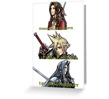 1ST ANNIVERSARY OF DISSIDIA 012 REPORTS 1 Greeting Card