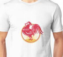 Rooster Cockerel Crowing Retro Unisex T-Shirt