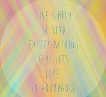 live simply by artingz