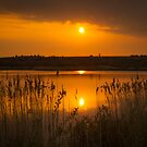 Sunset over Stanwick Lake by davetyrer